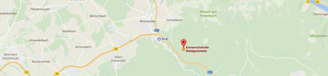 Waldgaststätte Emmerichshütte - Anfahrt